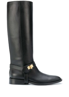 Givenchy calf leather riding boots