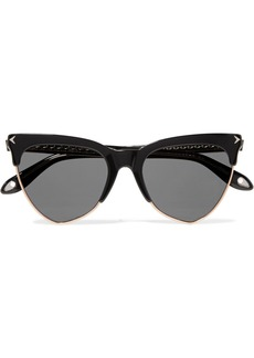 Givenchy Cat-eye acetate and rose gold-tone sunglasses