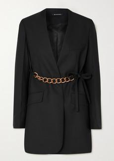 Givenchy Chain-embellished Wool Wrap Blazer