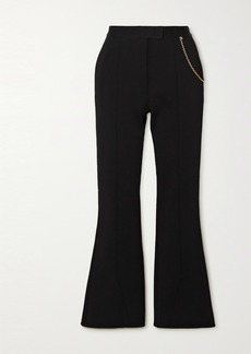 Givenchy Chain-embellished Woven Flared Pants