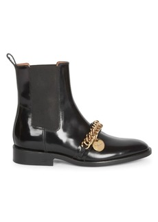 Givenchy Chain Leather Chelsea Boots