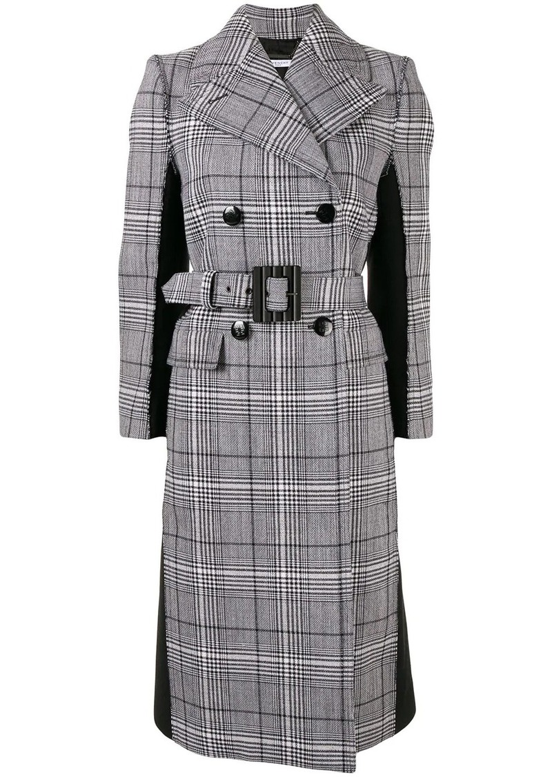 Givenchy check print double-breasted coat