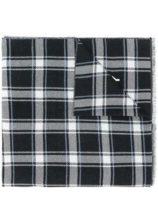 Givenchy checked logo scarf