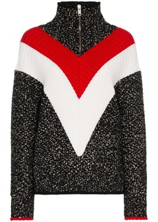 Givenchy chevron stripe zip up jumper