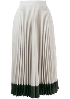Givenchy contrast hem pleated skirt