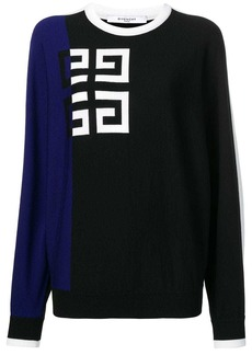 Givenchy contrast logo jumper