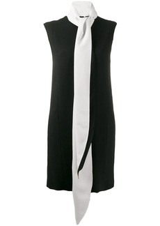 Givenchy contrast scarf collar dress