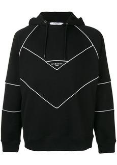Givenchy contrast trim logo hoodie