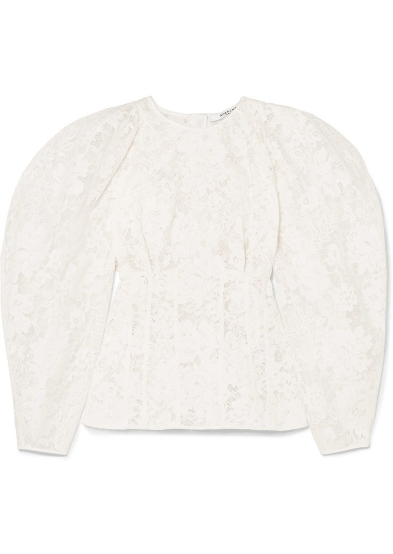 Givenchy Cotton-blend Corded Lace Blouse