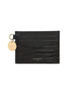 Givenchy Croc Embossed Leather Card Holder