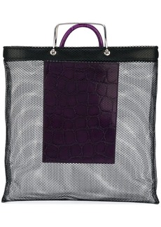 Givenchy crocodile effect mesh tote