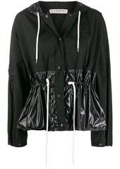 Givenchy cropped gathered windbreaker