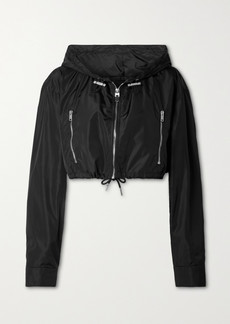 Givenchy Cropped Hooded Printed Shell Jacket