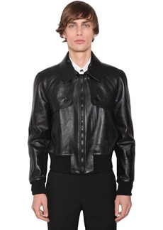 Givenchy Cropped Leather Jacket