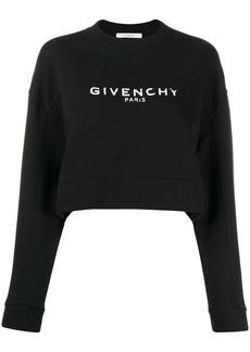 Givenchy cropped logo sweatshirt