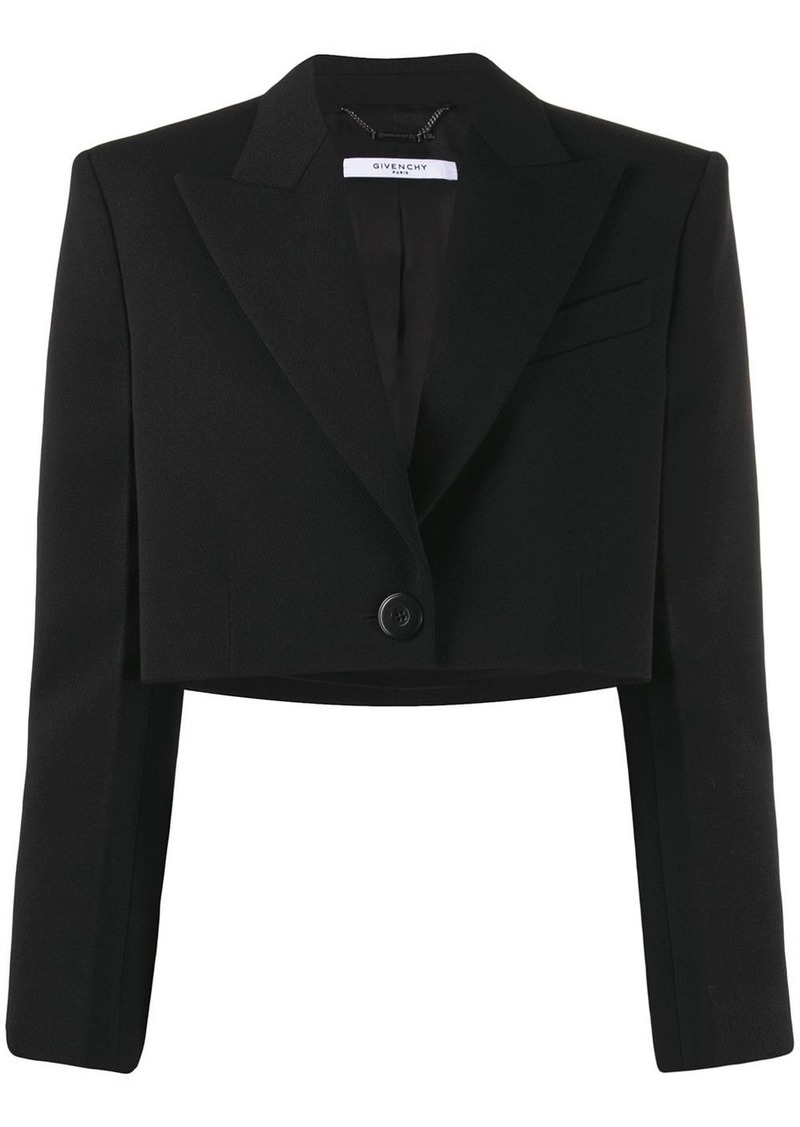 Givenchy cropped single button jacket
