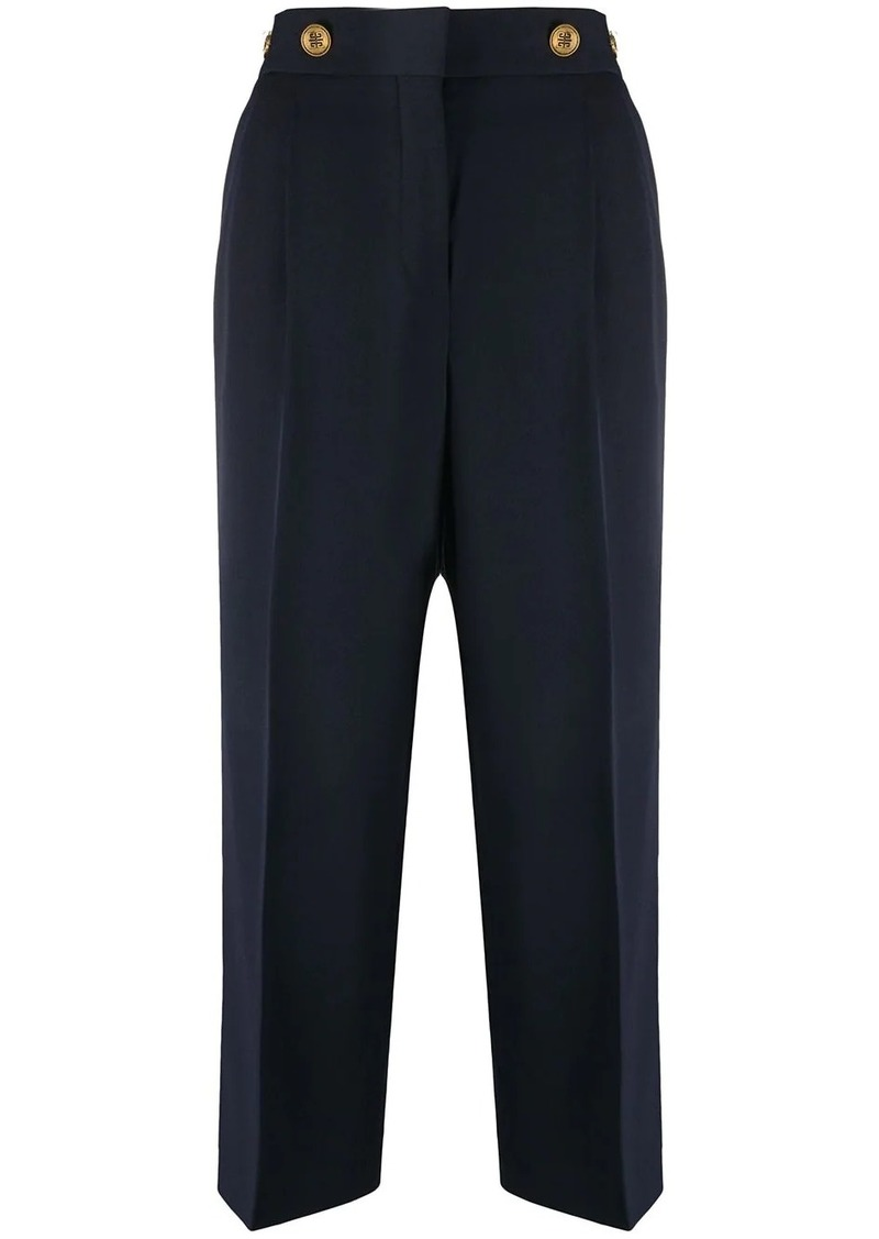 Givenchy cropped trousers with 4G button