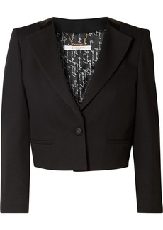 Givenchy Cropped Wool-crepe Blazer