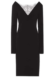 Givenchy Crêpe midi dress with lace