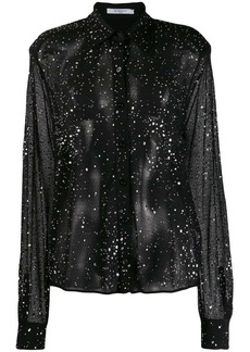 Givenchy crystal studded knit shirt