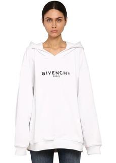 Givenchy Destroyed Logo Cotton Sweatshirt Hoodie