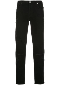 Givenchy destroyed skinny jeans