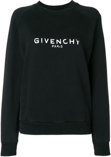 Givenchy distressed logo sweater