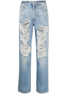 Givenchy distressed straight-leg jeans