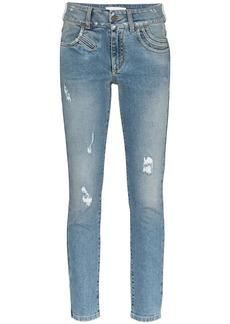 Givenchy distressed stretch-denim skinny jeans
