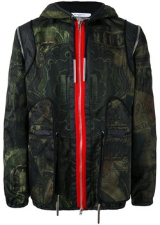 Givenchy dollar print hooded jacket