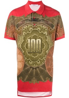 Givenchy dollar print polo shirt