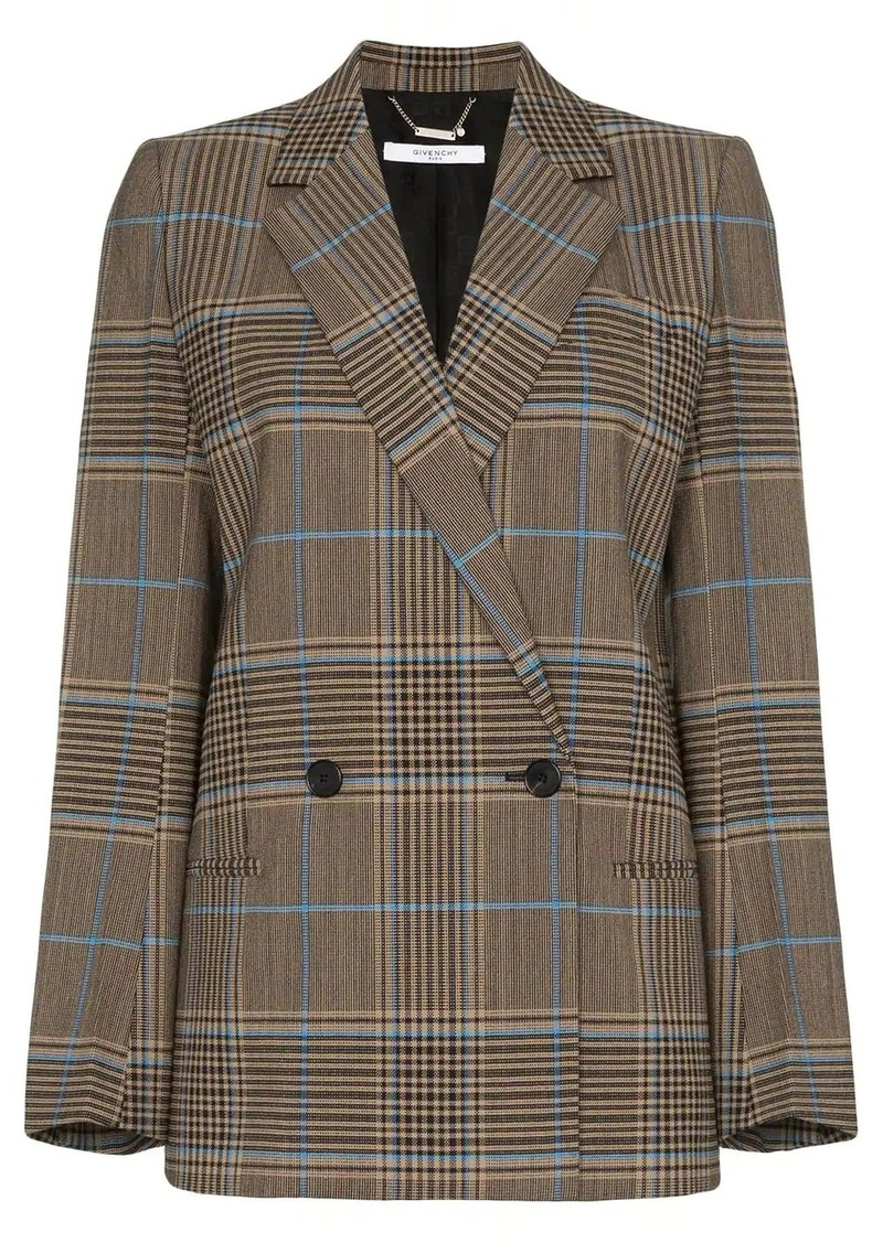 Givenchy double-breasted check jacket