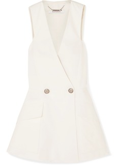 Givenchy Double-breasted Cotton-canvas Peplum Vest