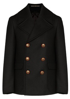 Givenchy double-breasted long-sleeve coat