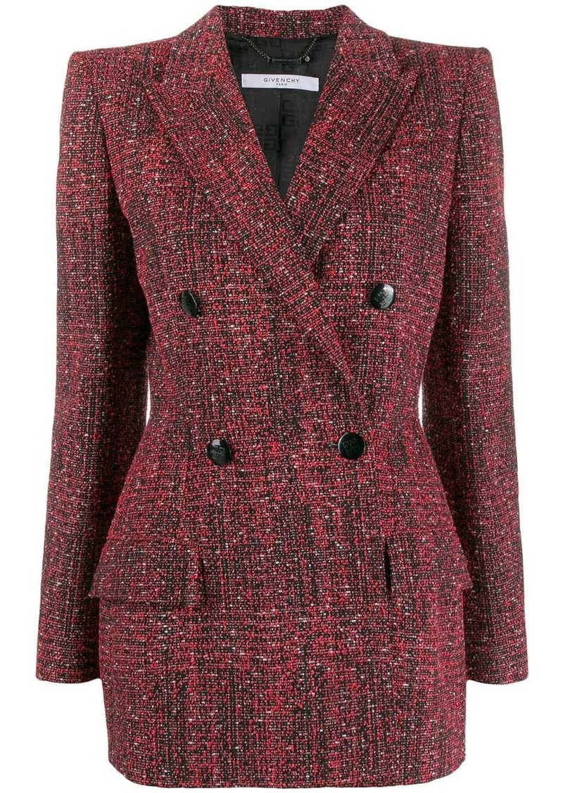 Givenchy double-breasted tweed jacket
