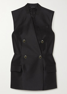 Givenchy Double-breasted Wool And Silk-blend Satin Vest