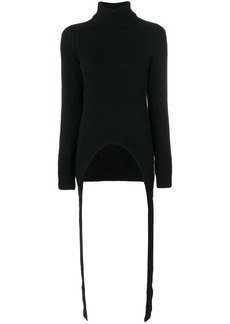 Givenchy drape detail knitted jumper