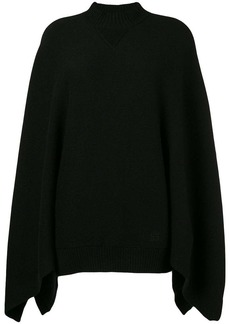 Givenchy draped long-sleeve sweater