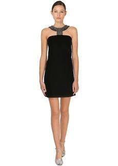 Givenchy Embellished Crepe Mini Dress