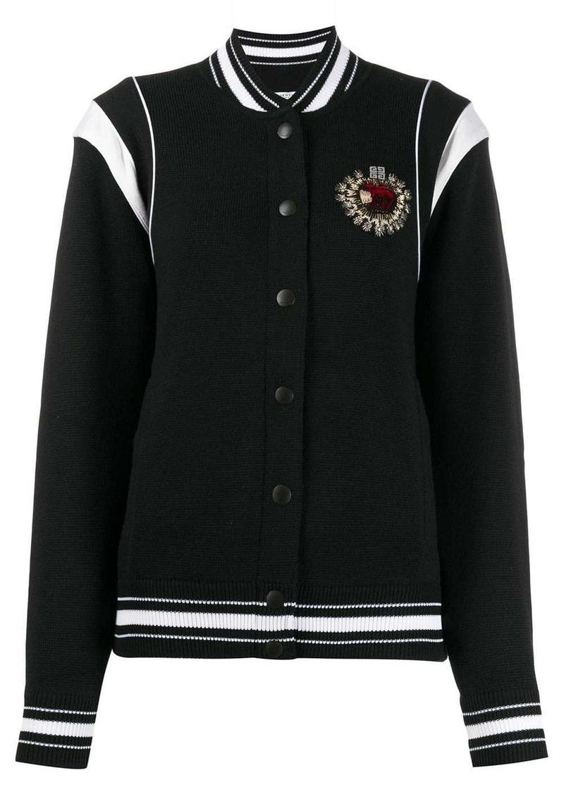 Givenchy embellished crest bomber jacket