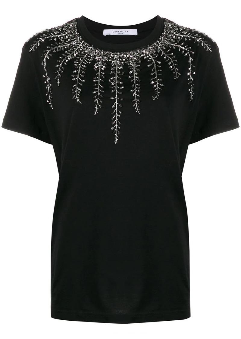 Givenchy embellished neck T-shirt