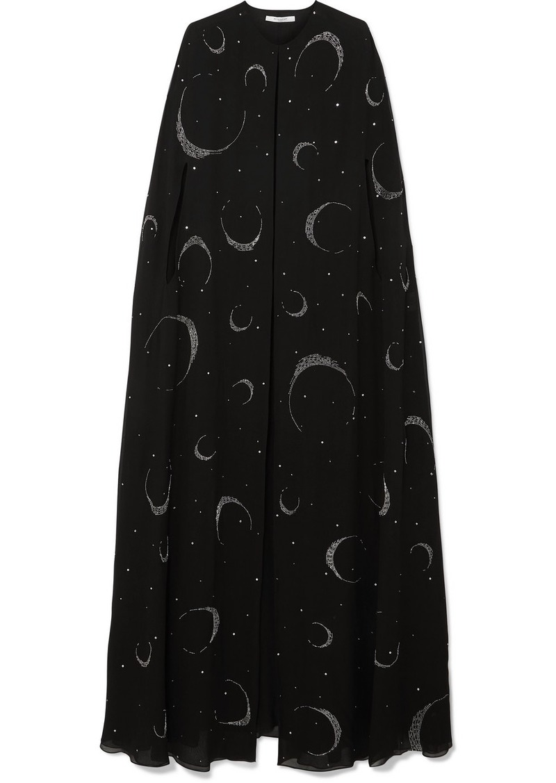 Givenchy Embellished Silk-crepe Cape