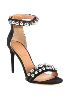 Givenchy Embellished Suede Ankle-Strap Sandals