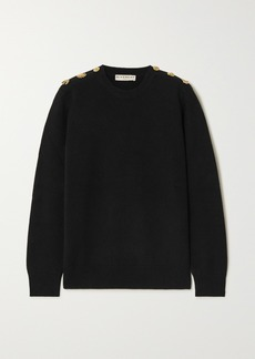 Givenchy Embellished Wool And Cashmere-blend Sweater