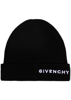 Givenchy embroidered logo beanie hat