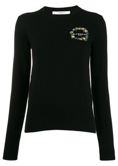 Givenchy logo-embroidered knit top
