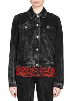 Givenchy Embroidered Washed Denim Jacket
