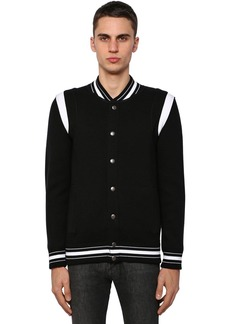 Givenchy Embroidered Wool Knit Bomber Jacket