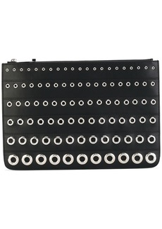 Givenchy eyelet embossed clutch