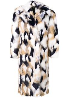 Givenchy faux fur oversized coat